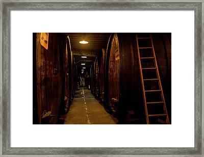 Barrel Climb Framed Print by Jon Glaser