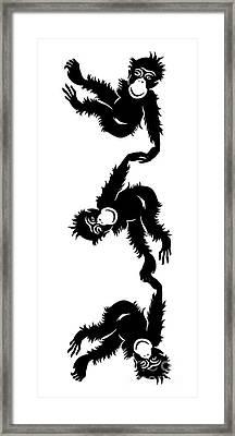 Barrel Full Of Monkeys T-shirt Framed Print by Edward Fielding