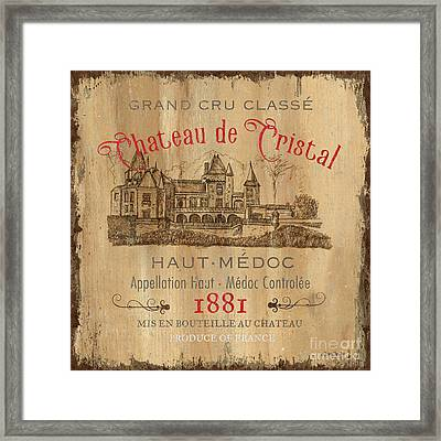 Barrel Wine Label 1 Framed Print by Debbie DeWitt