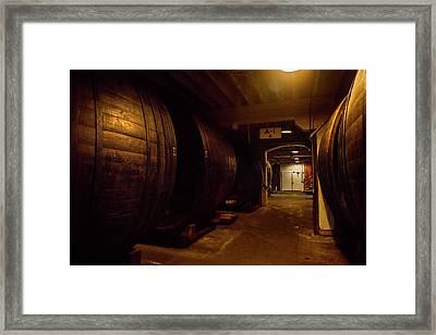 Barrels Filled Framed Print by Jon Glaser