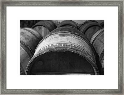 Barrels Of Wine Framed Print by Georgia Fowler
