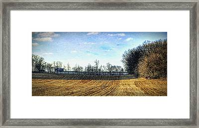 Barren Fields In Champaign County Framed Print by William Sturgell