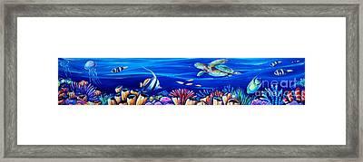 Barrier Reef Framed Print by Deb Broughton