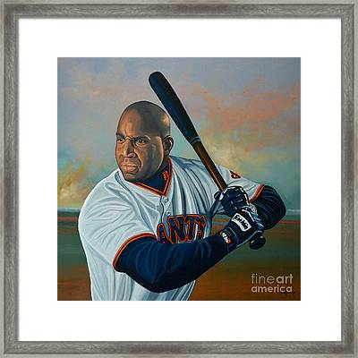 Barry Bonds Framed Print by Paul Meijering
