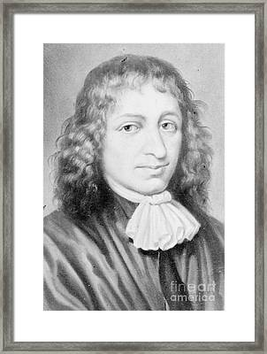 Baruch Spinoza, Jewish-dutch Philosopher Framed Print by Photo Researchers