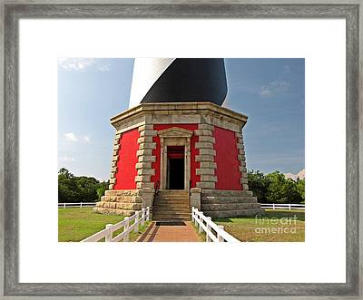 Base Of The Cape Hatteras Lighthouse Framed Print by Ben Schumin