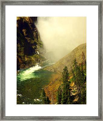 Base Of The Falls 2 Framed Print by Marty Koch