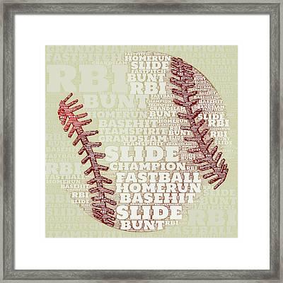 Baseball 2 Framed Print by Brandi Fitzgerald