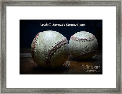 Baseball Americas Favorite Game Framed Print by Paul Ward
