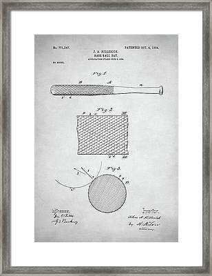 Baseball Bat Patent Framed Print by Taylan Soyturk