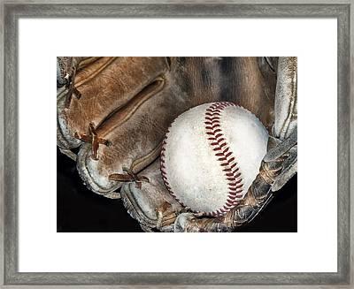 Baseball Framed Print by Camille Lopez