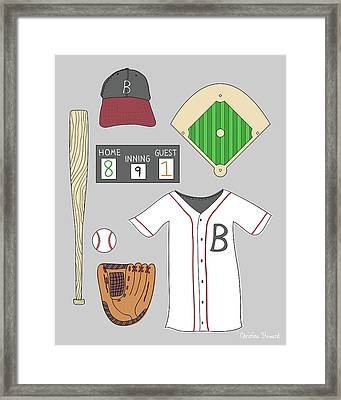 Play Ball Framed Print by Christina Steward