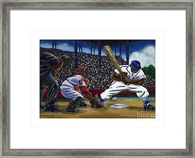 Baseball Game Framed Print by Keith Shepherd