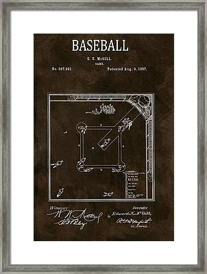 Baseball Game Patent Framed Print by Dan Sproul