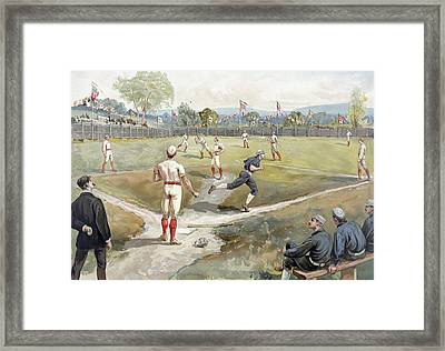 Baseball Game Framed Print by Unknown