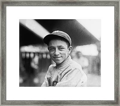 Baseball Mascot Eddie Bennett Framed Print by Underwood Archives