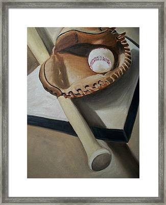 Baseball Framed Print by Mikayla Ziegler