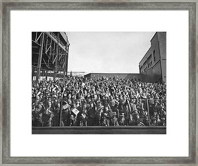 Baseball Opening Day Fans Framed Print by Underwood Archives