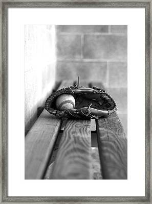 Baseball Still Life Framed Print by Susan Schumann