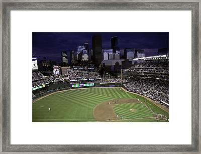 Baseball Target Field  Framed Print by Paul Plaine