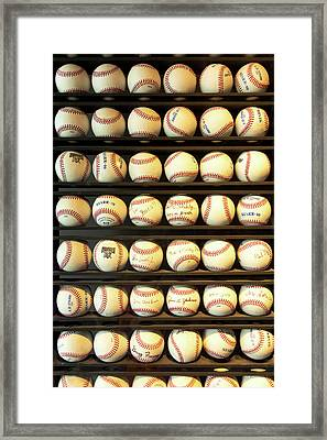 Baseball - You Have Got Some Balls There Framed Print by Mike Savad