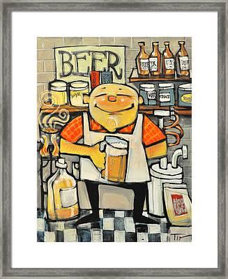 Basement Brewer Framed Print by Tim Nyberg
