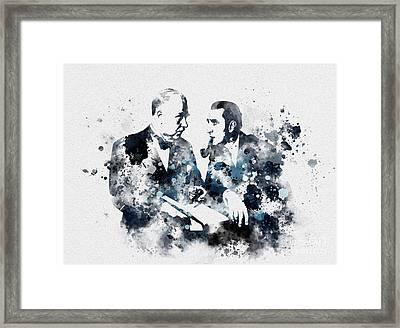 Basil Rathbone And Nigel Bruce Framed Print by Rebecca Jenkins