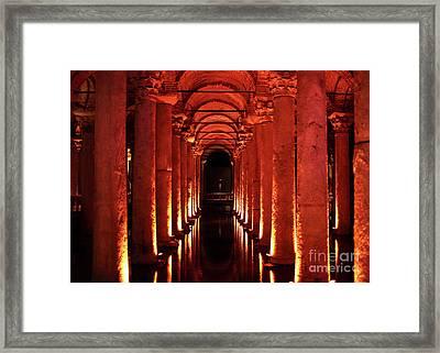 Basilica Cistern Framed Print by John Rizzuto