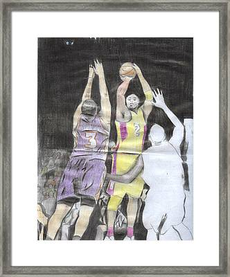 Basket Ball Framed Print by Daniel Kabugu