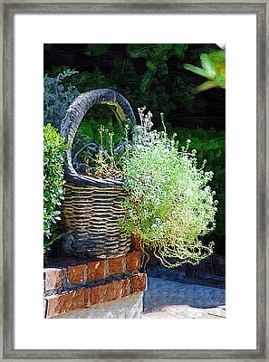 Basket Full Of Flowers Framed Print by Donna Bentley