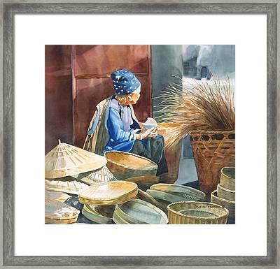 Basket Maker Framed Print by Sharon Freeman