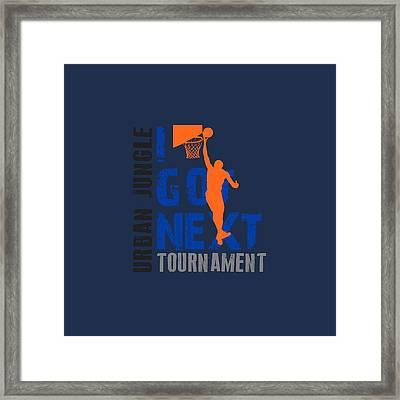 Basketball I Got Next Framed Print by Joe Hamilton