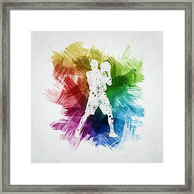Basketball Player Art 13 Framed Print by Aged Pixel