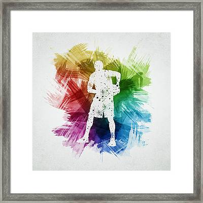 Basketball Player Art 18 Framed Print by Aged Pixel
