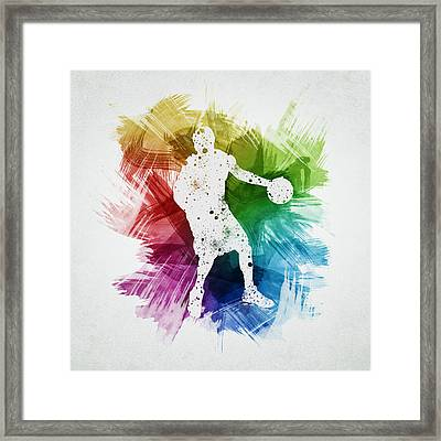 Basketball Player Art 21 Framed Print by Aged Pixel