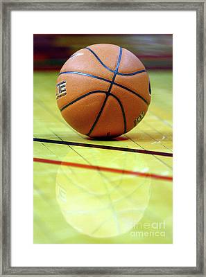 Basketball Reflections Framed Print by Alan Look