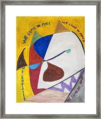 Basquiat's White Devil  Framed Print by Stormm Bradshaw