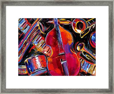 Bass And Friends Framed Print by Debra Hurd