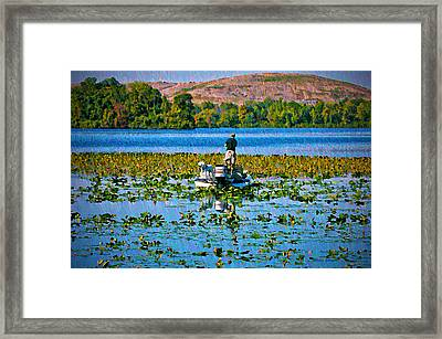 Bass Fishing Framed Print by Bill Cannon