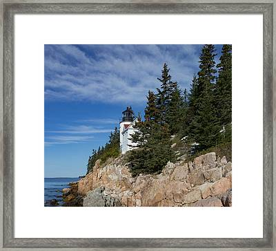 Bass Harbor Light Framed Print by Capt Gerry Hare