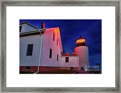 Bass Harbor Lighthouse Maine Framed Print by John Greim