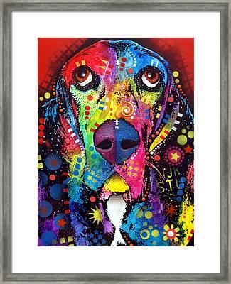 Basset Hound Framed Print by Dean Russo