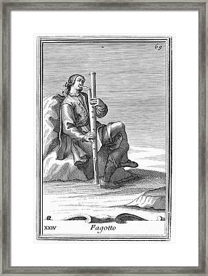 Bassoon, 1723 Framed Print by Granger