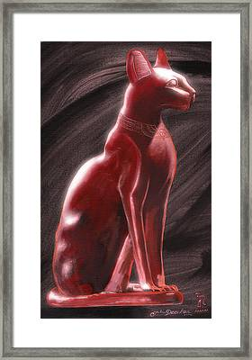Bastet Framed Print by John Deecken