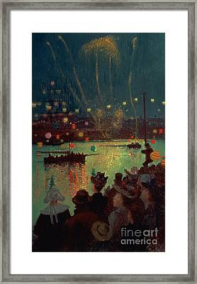 Bastille Day At Lorient Framed Print by Henry Moret