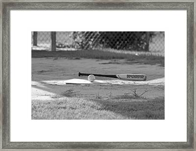 Bat And Ball Framed Print by Sheryl West