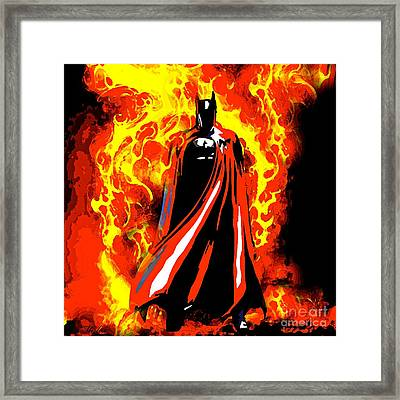 Bat Man Framed Print by Saundra Myles