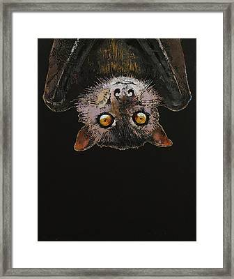 Bat Framed Print by Michael Creese