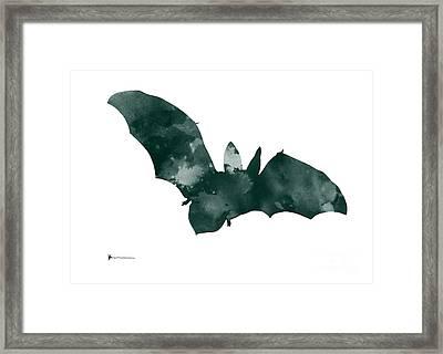 Bat Minimalist Watercolor Painting For Sale Framed Print by Joanna Szmerdt