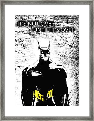 Bat  - Beware The Batman Framed Print by Prar Kulasekara